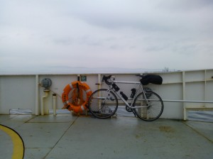 Only passenger on the Cromarty Ferry.