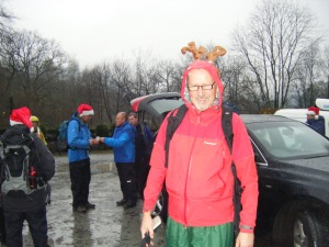 And to prove the point, the annual Christmas walk with my chums from Wigan, Friday 13th. Wet, windy. But not cold.