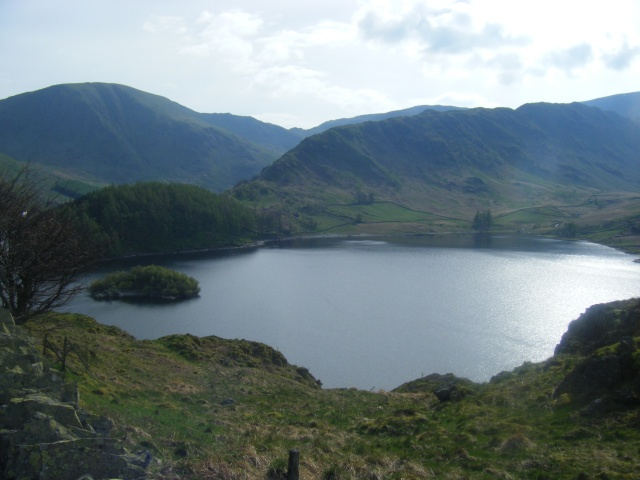 Looking across Haweswater into Riggindale; elusive eagle country.