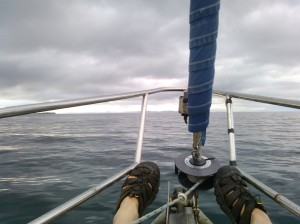 Feet up in the Sound of Raasay