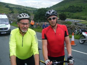 Stu & Tim intercept the Tour de France. Thwaite, Swaledale.