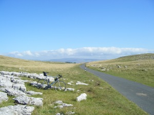 Crossing Great Asby Scar, Cumbria.