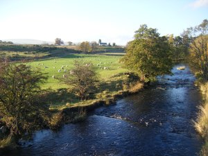 River Lowther from Rosgill Bridge.