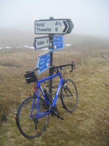 Out of a gloriously sunny spring day at home and up into Pennine gloom. Doh!
