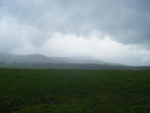 Gloom over Caldbeck Commons.