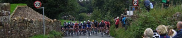 The peloton at Armathwaite.
