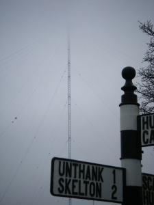 Apropos of none of the above, a radio transmitter vanishes into the mist on yesterday's dreich ride.